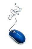 Ratón del ordenador aislado Imagen de archivo libre de regalías