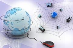 ratón del ordenador con el globo