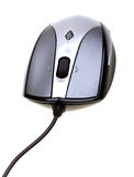 Ratón del ordenador del primer aislado en blanco Foto de archivo libre de regalías