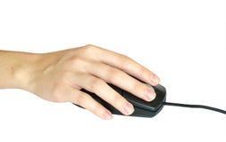 Ratón del ordenador disponible Fotos de archivo