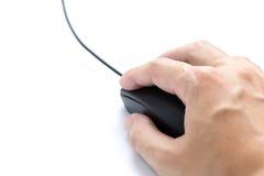 Ratón del ordenador en el fondo blanco foto de archivo libre de regalías