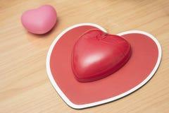 Ratón del ordenador en la forma de corazón, día de San Valentín Foto de archivo