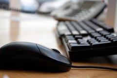 Ratón del teclado de ordenador de oficina Fotografía de archivo libre de regalías