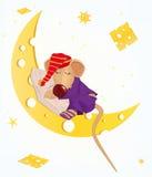 Ratón el dormir ilustración del vector