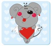 Ratón en amor Fotos de archivo