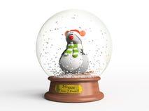 Ratón en globo de la nieve Imagen de archivo libre de regalías