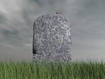 Ratón en la piedra sepulcral - 3D rinden Foto de archivo libre de regalías