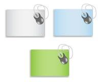 Ratón en un mousepad en blanco Fotos de archivo libres de regalías
