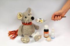 Ratón enfermo Fotografía de archivo