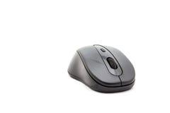 Ratón inalámbrico del ordenador aislado en el fondo blanco Fotografía de archivo