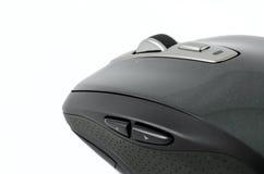 Ratón inalámbrico gris en fondo aislado Imagen de archivo libre de regalías