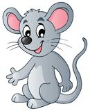 Ratón lindo de la historieta Fotografía de archivo