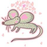 Ratón lindo de la historieta en vector Imagen de archivo libre de regalías