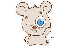 Ratón lindo que guiña y que pone mala cara ilustración del vector