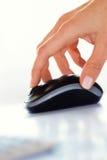 Ratón móvil de la empresaria Fotos de archivo