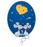 Ratón macho y un ratón femenino stock de ilustración