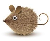 Ratón marrón divertido ilustración del vector