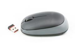 Ratón negro del ordenador Fotos de archivo