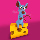 Ratón o rata lindo de la historieta Fotos de archivo