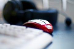 Ratón rojo del ordenador Imágenes de archivo libres de regalías