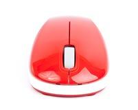 Ratón rojo del pequeño ordenador Fotografía de archivo libre de regalías
