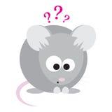 Ratón sorprendido divertido Imágenes de archivo libres de regalías