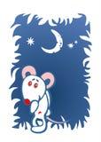 Ratón tímido adornado Fotografía de archivo