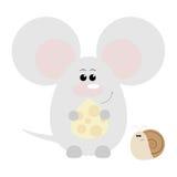 Ratón y caracol felices Imagen de archivo