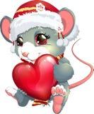 Ratón y corazón Imágenes de archivo libres de regalías