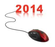 Ratón y 2014 del ordenador Imagenes de archivo