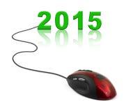 Ratón y 2015 del ordenador Fotografía de archivo