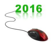 Ratón y 2016 del ordenador Imagen de archivo