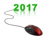 Ratón y 2017 del ordenador Imagen de archivo libre de regalías