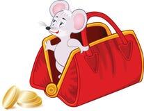 Ratón y dinero de la historieta stock de ilustración