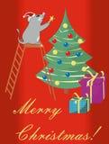 Ratón y la Navidad de la historieta libre illustration