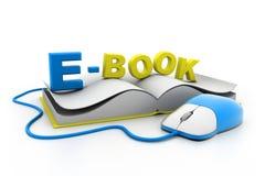 Ratón y libro del ordenador Imagen de archivo libre de regalías