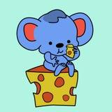 Ratón y queso Fotografía de archivo libre de regalías
