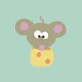 Ratón y queso Fotografía de archivo