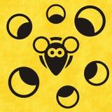 Ratón y queso del ojo Imagenes de archivo