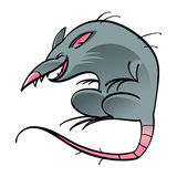 Rat. Mouse cartoon character gutter street animal rodent Royalty Free Stock Images