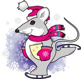 Rat. New year's rat is a symbol of 2008 year in east horoscope Royalty Free Stock Image
