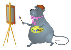 Rat-artist Royalty Free Stock Images