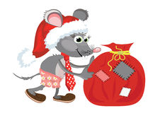Rat with bag Stock Images