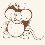Rat cartoon Royalty Free Stock Photos