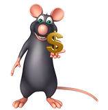 Rat cartoon character with doller sign Stock Photo