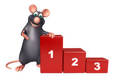 Rat cartoon character with level. 3d rendered illustration of Rat cartoon character with level Royalty Free Stock Photography