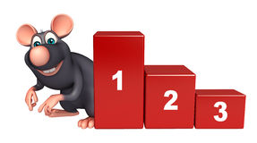 Rat cartoon character with level. 3d rendered illustration of Rat cartoon character with level Stock Photography
