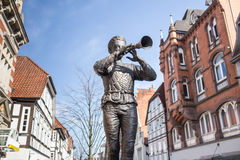 rat catcher statue hameln germany Royalty Free Stock Photo