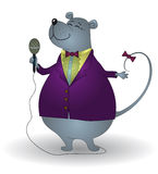 Rat-chanteur Illustration Libre de Droits