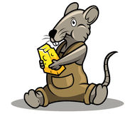 Rat and cheese Stock Image